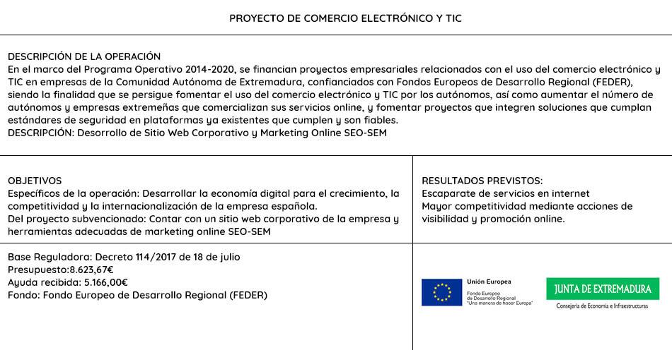 Información ayuda UE y Junta de Extremadura